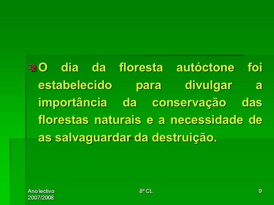 O dia da floresta autóctone foi estabelecido para divulgar a importância da conservação das florestas naturais e a necessidade de as salvaguardar da destruição.