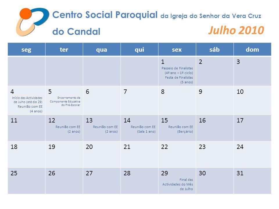 Julho 2010 Centro Social Paroquial da Igreja do Senhor da Vera Cruz