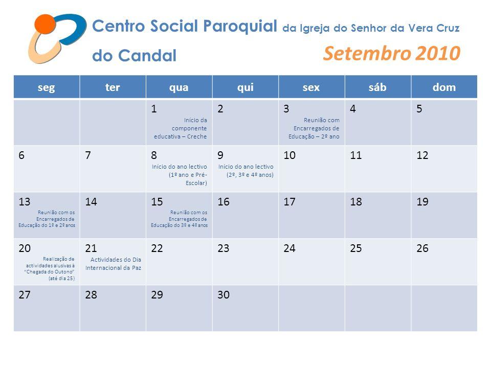 Setembro 2010 Centro Social Paroquial da Igreja do Senhor da Vera Cruz