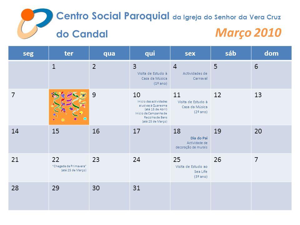 Março 2010 Centro Social Paroquial da Igreja do Senhor da Vera Cruz