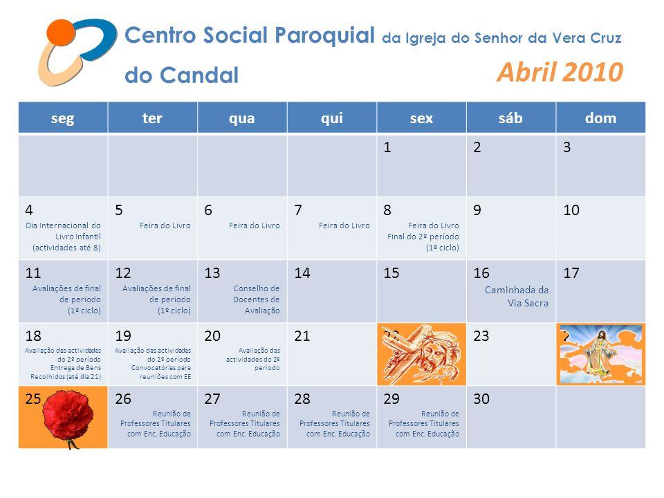 Abril 2010 Centro Social Paroquial da Igreja do Senhor da Vera Cruz