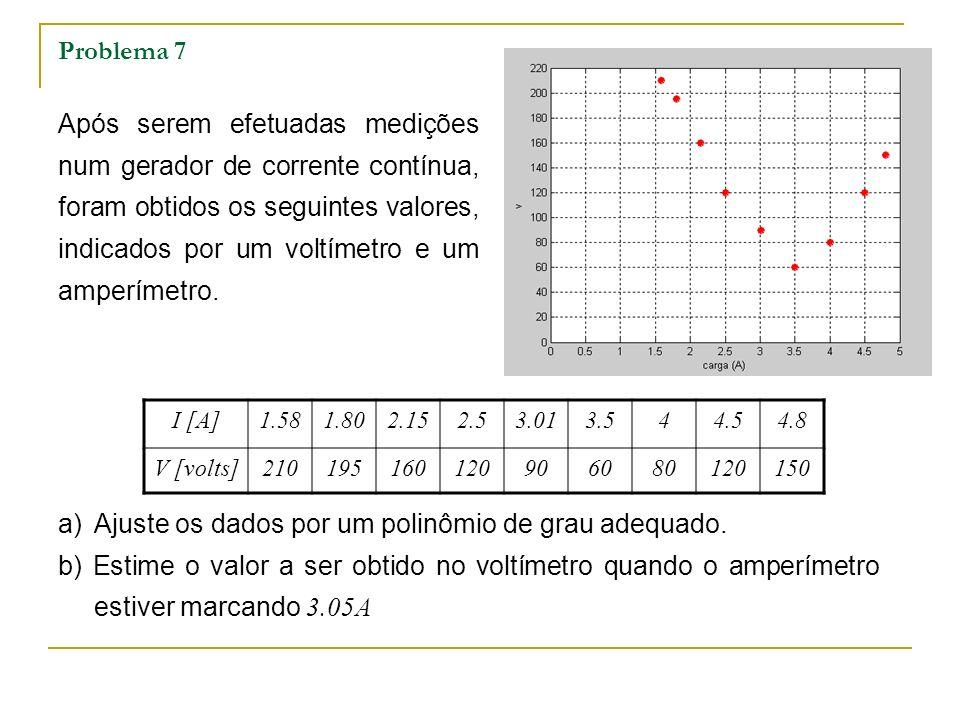 Ajuste os dados por um polinômio de grau adequado.