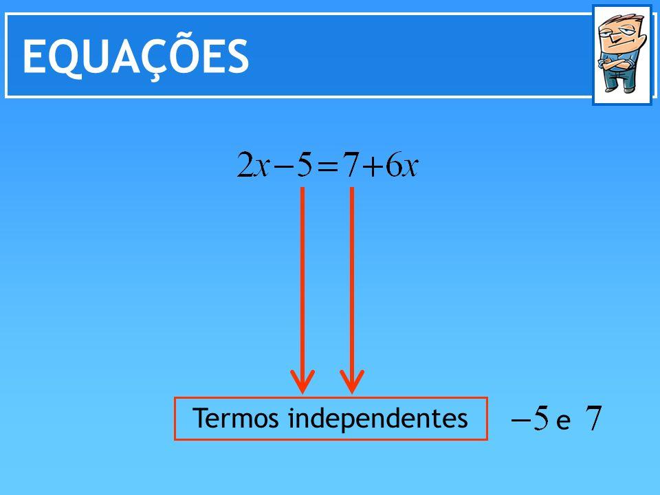 EQUAÇÕES Termos independentes e
