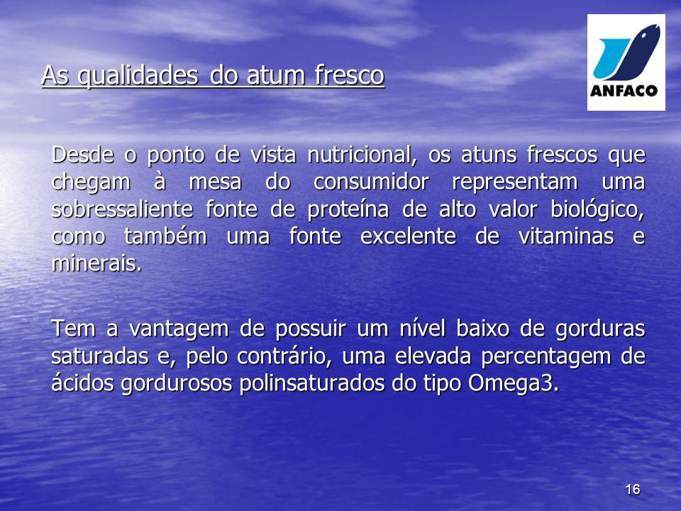 As qualidades do atum fresco