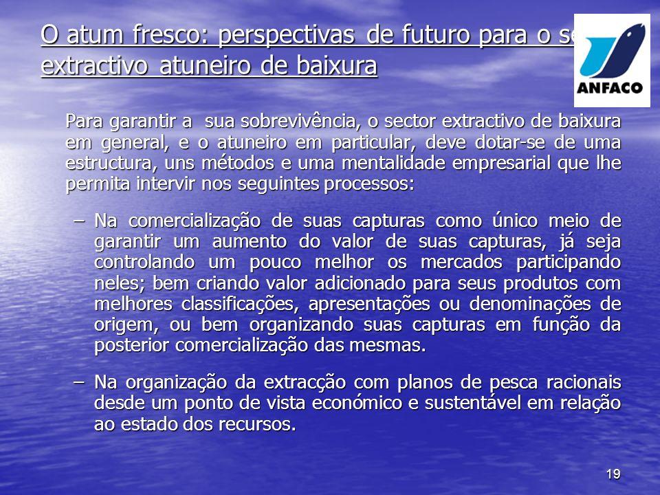 O atum fresco: perspectivas de futuro para o sector extractivo atuneiro de baixura