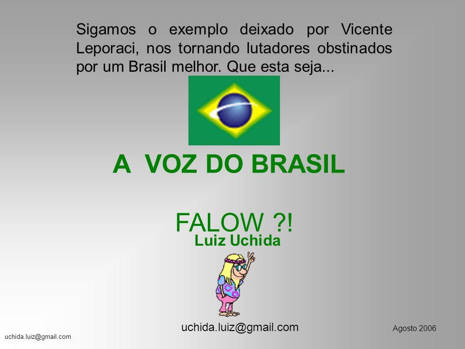 Sigamos o exemplo deixado por Vicente Leporaci, nos tornando lutadores obstinados por um Brasil melhor. Que esta seja...