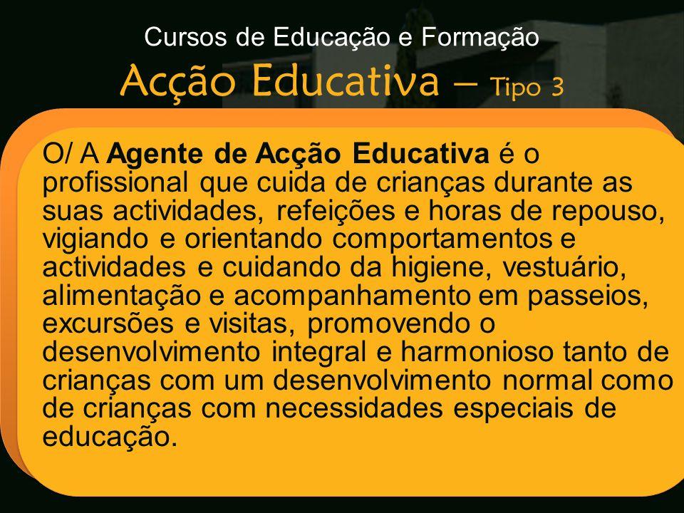 Cursos de Educação e Formação Acção Educativa – Tipo 3
