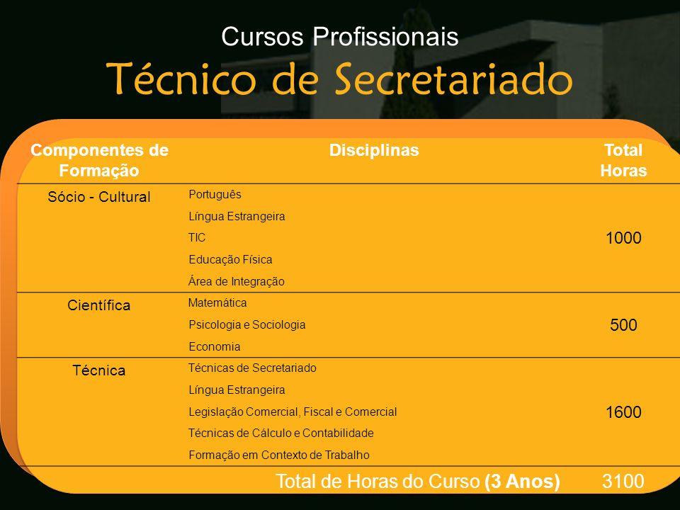 Cursos Profissionais Técnico de Secretariado