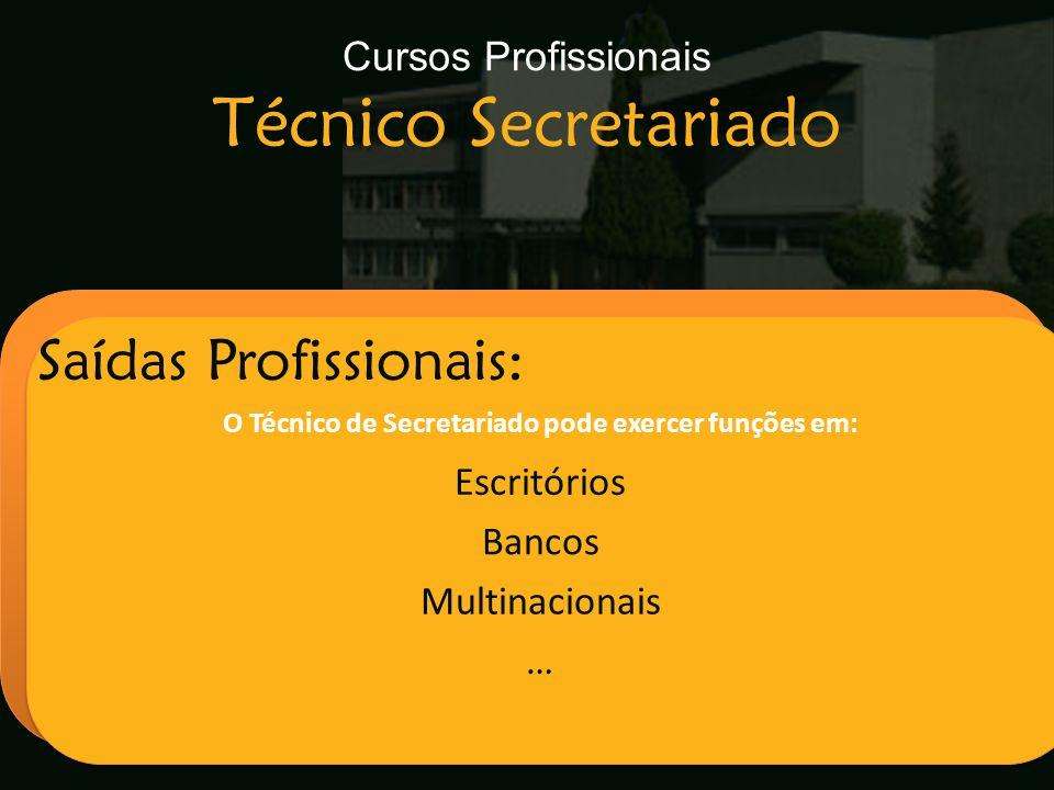Cursos Profissionais Técnico Secretariado
