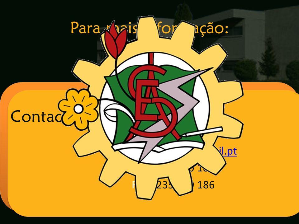 Escola Secundária de Arganil Contactos: