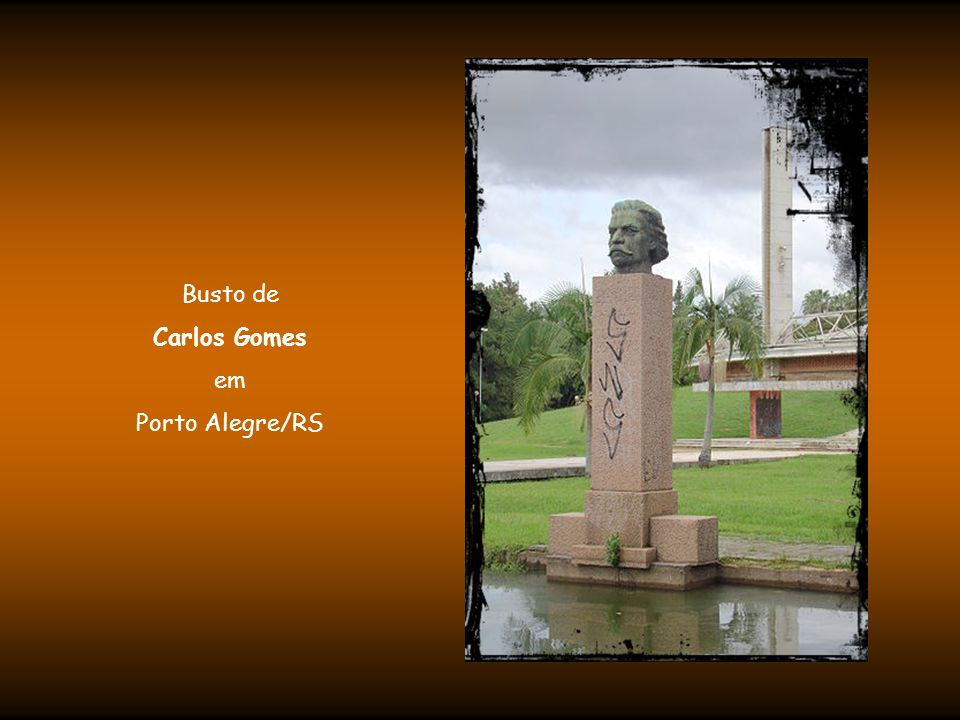 Busto de Carlos Gomes em Porto Alegre/RS