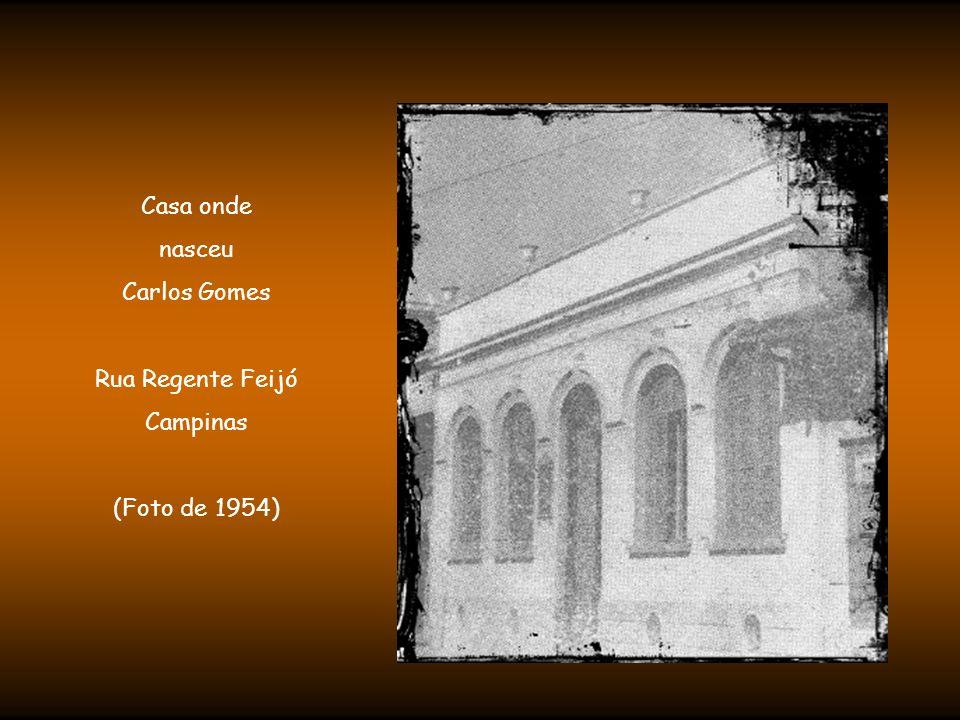 Casa onde nasceu Carlos Gomes Rua Regente Feijó Campinas (Foto de 1954)