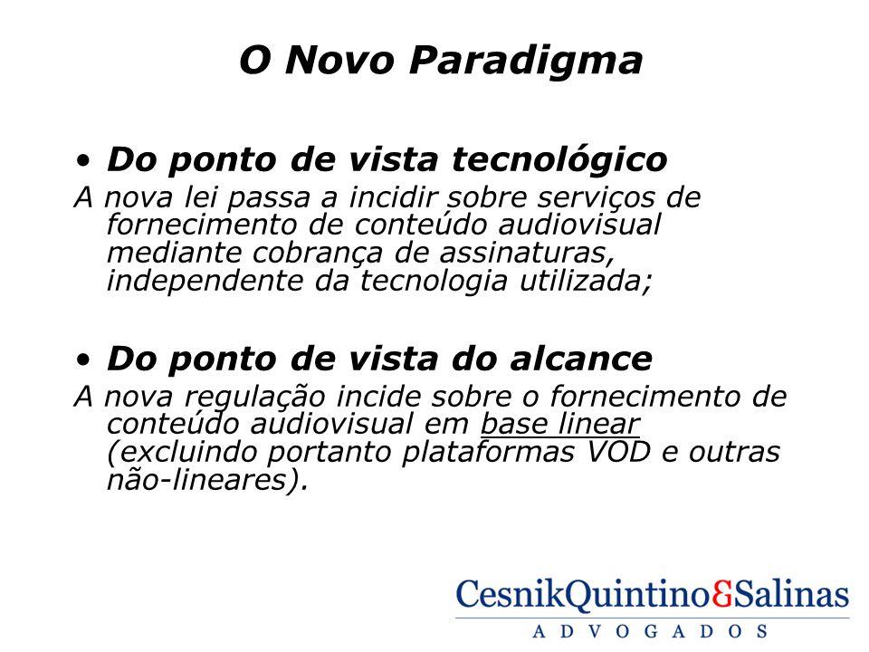 O Novo Paradigma Do ponto de vista tecnológico
