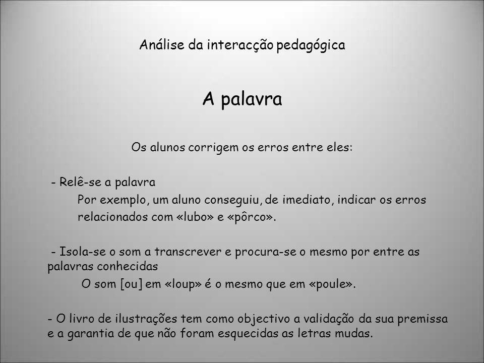 Análise da interacção pedagógica