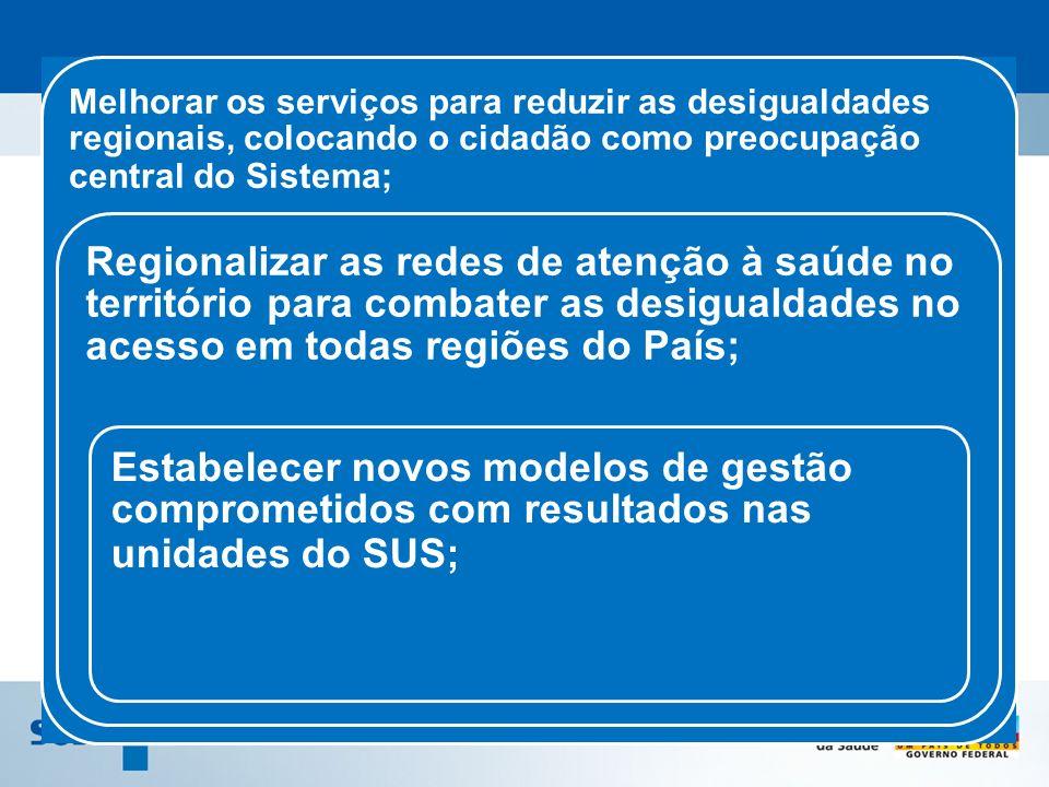 Melhorar os serviços para reduzir as desigualdades regionais, colocando o cidadão como preocupação central do Sistema;