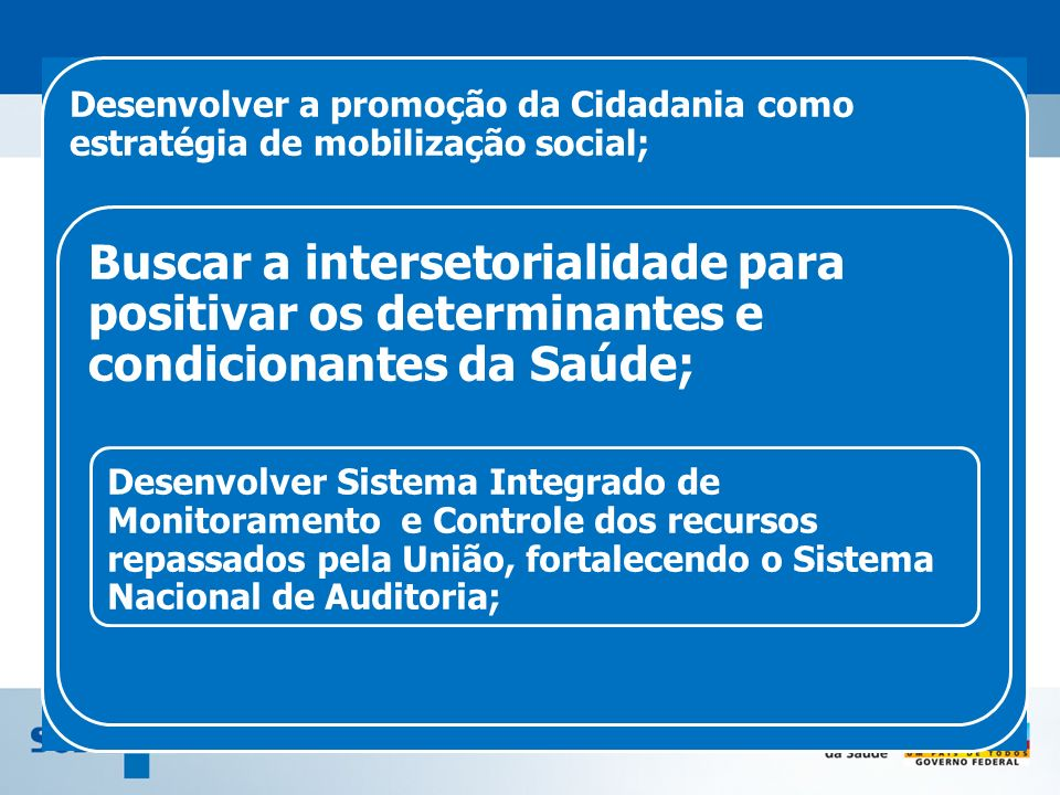 Desenvolver a promoção da Cidadania como estratégia de mobilização social;