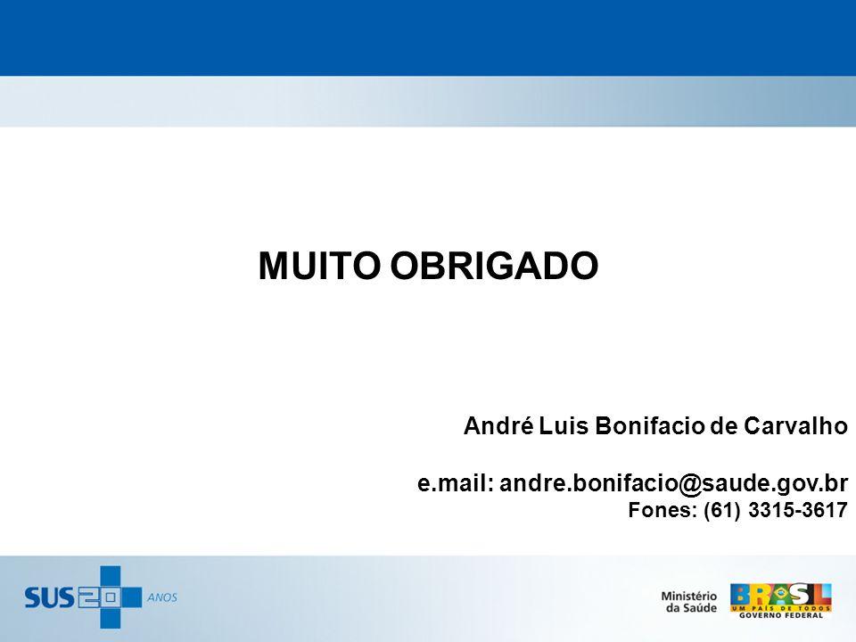 MUITO OBRIGADO André Luis Bonifacio de Carvalho