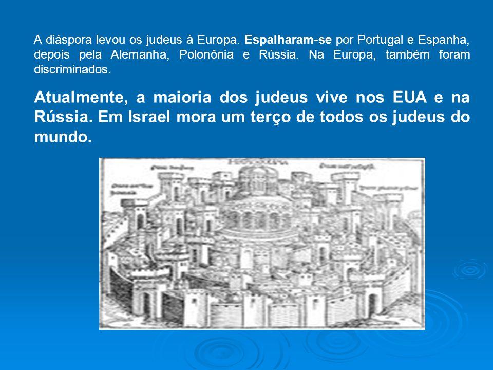 A diáspora levou os judeus à Europa
