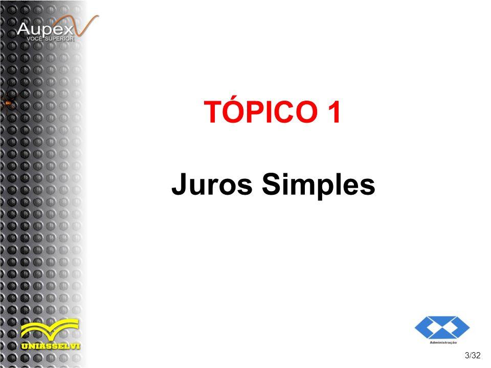TÓPICO 1 Juros Simples 3/32