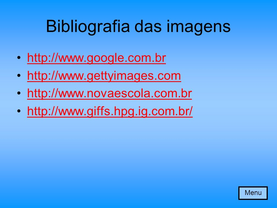 Bibliografia das imagens