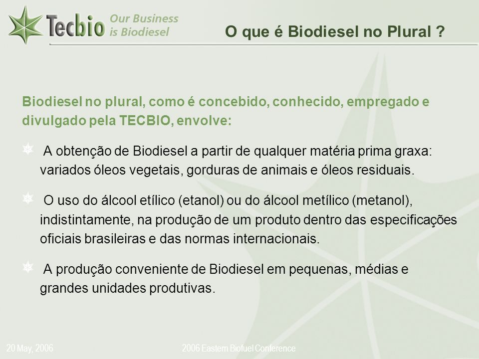 2006 Eastern Biofuel Conference