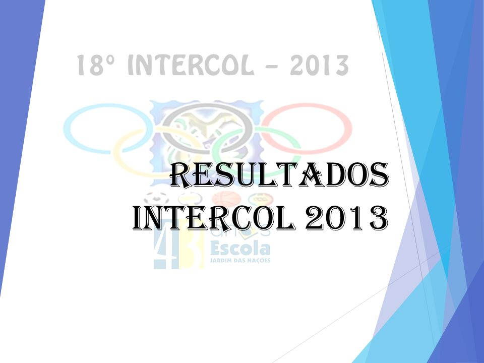 RESULTADOS INTERCOL 2013