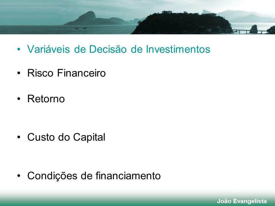 Variáveis de Decisão de Investimentos Risco Financeiro Retorno
