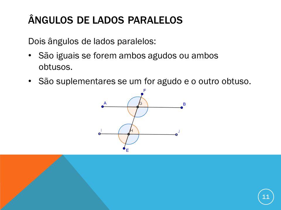 Ângulos de lados paralelos