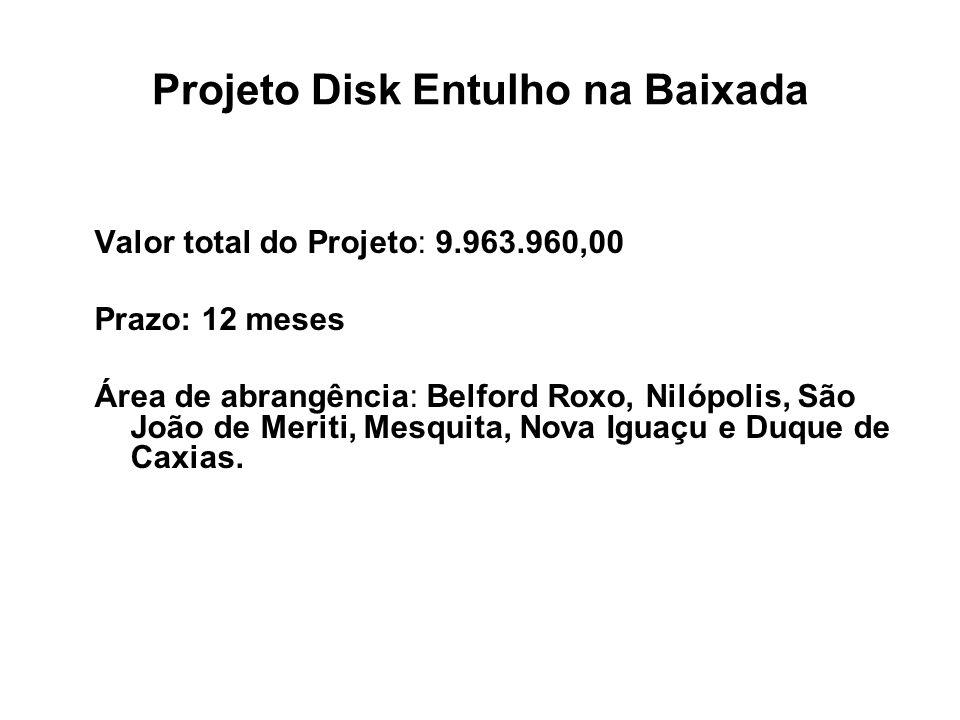 Projeto Disk Entulho na Baixada