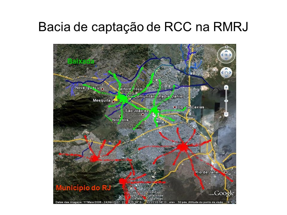 Bacia de captação de RCC na RMRJ
