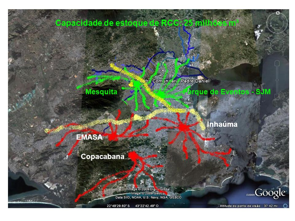 Capacidade de estoque de RCC: 25 milhões m³