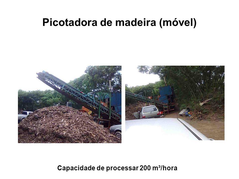 Picotadora de madeira (móvel)