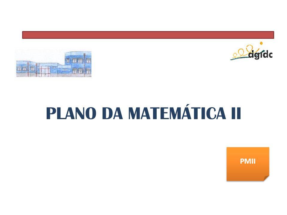 PLANO DA MATEMÁTICA II PMII