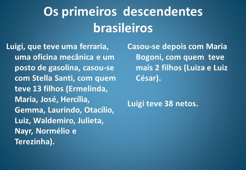 Os primeiros descendentes brasileiros