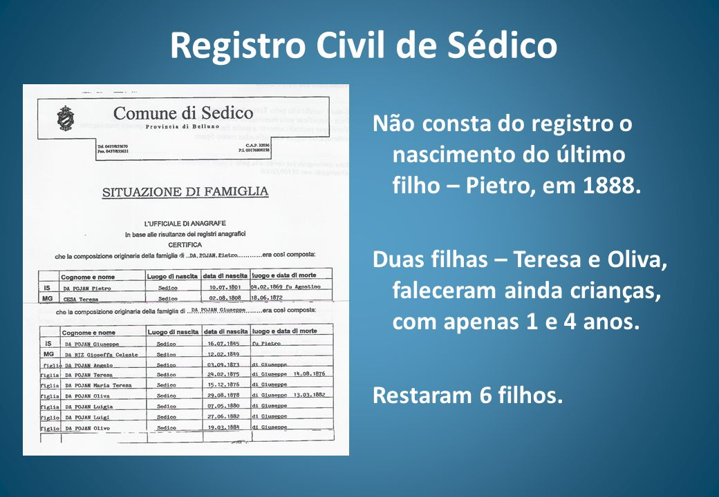 Registro Civil de Sédico