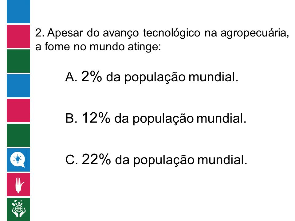 A. 2% da população mundial.
