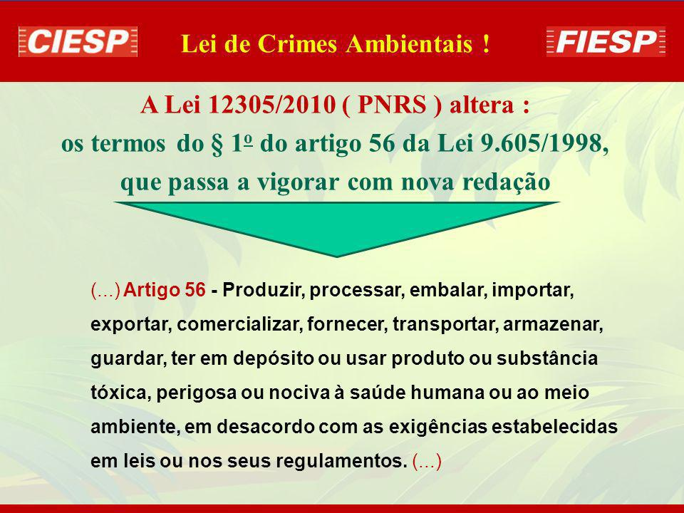 Lei de Crimes Ambientais !