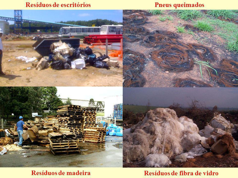Resíduos de escritórios Resíduos de fibra de vidro