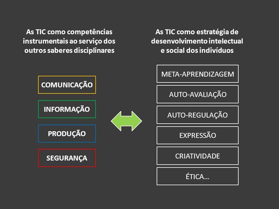 As TIC como competências instrumentais ao serviço dos outros saberes disciplinares