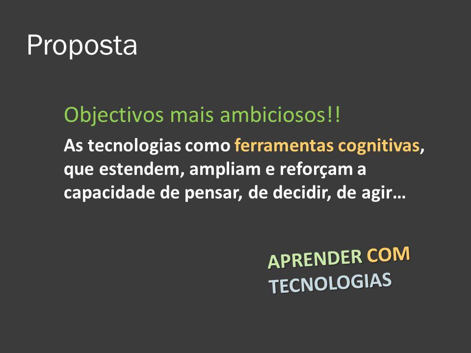 Proposta Objectivos mais ambiciosos!! APRENDER COM TECNOLOGIAS