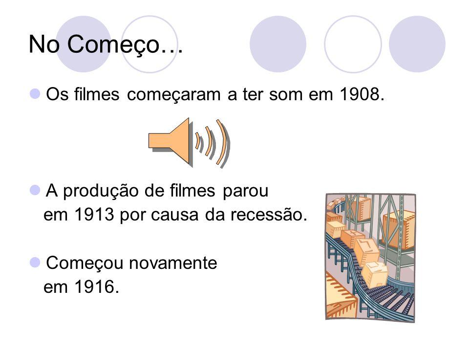No Começo… Os filmes começaram a ter som em 1908.