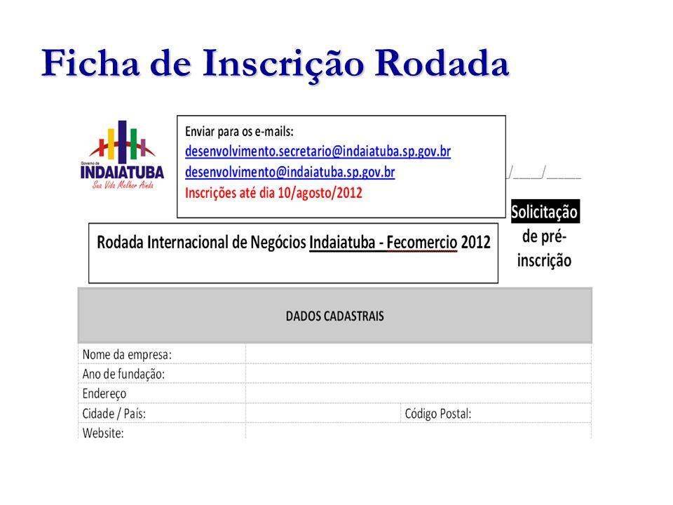 Ficha de Inscrição Rodada