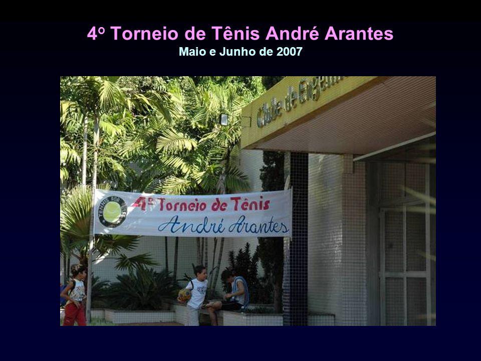 4o Torneio de Tênis André Arantes Maio e Junho de 2007