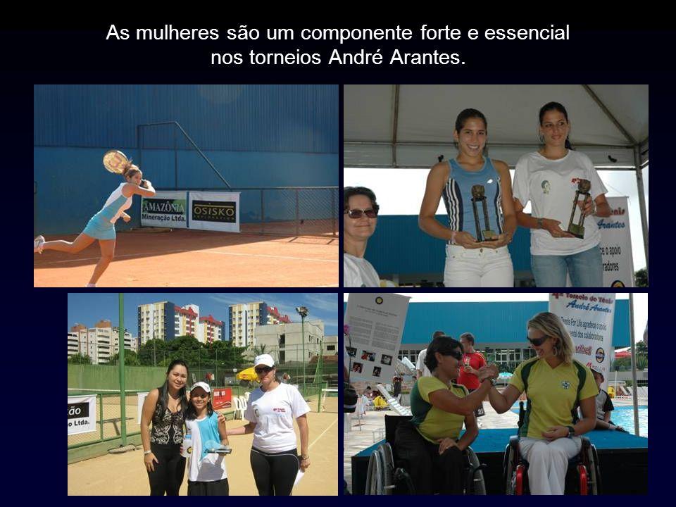 As mulheres são um componente forte e essencial nos torneios André Arantes.