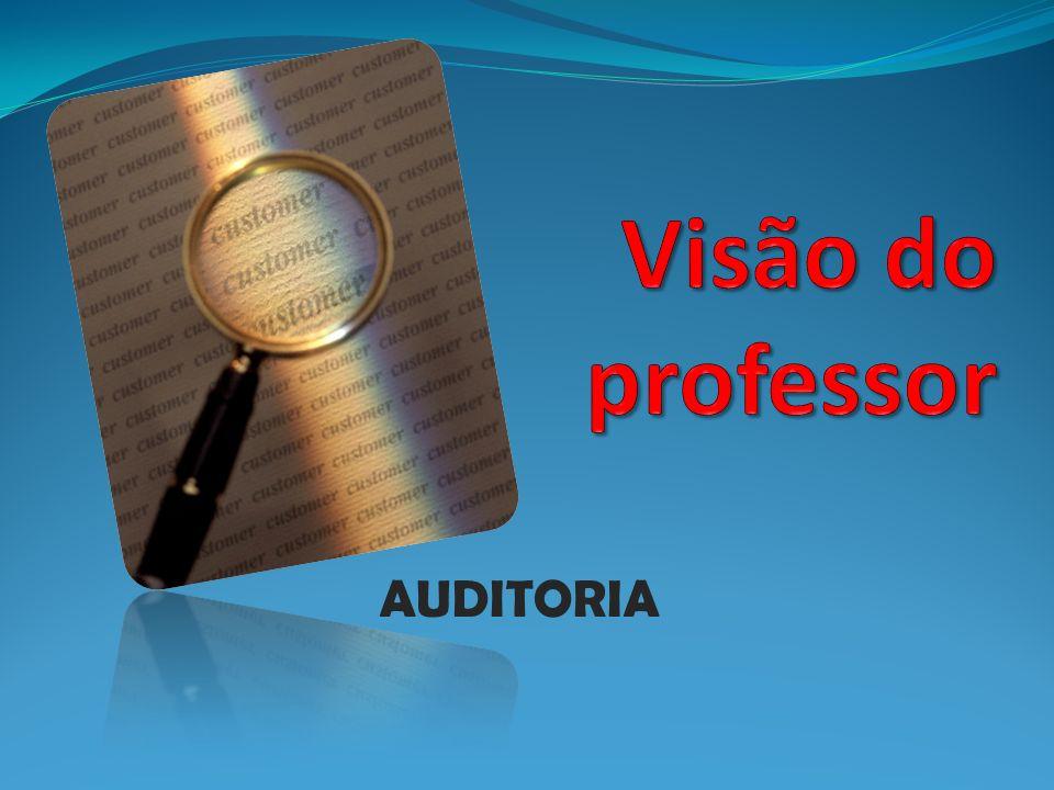Visão do professor AUDITORIA