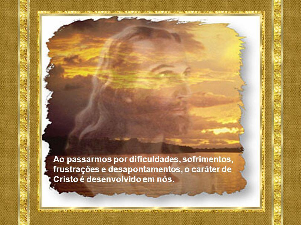 Ao passarmos por dificuldades, sofrimentos, frustrações e desapontamentos, o caráter de Cristo é desenvolvido em nós.