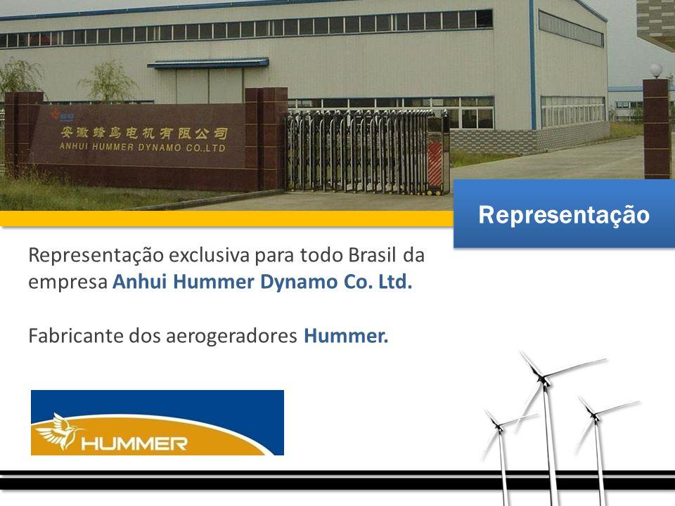 Representação Representação exclusiva para todo Brasil da empresa Anhui Hummer Dynamo Co.