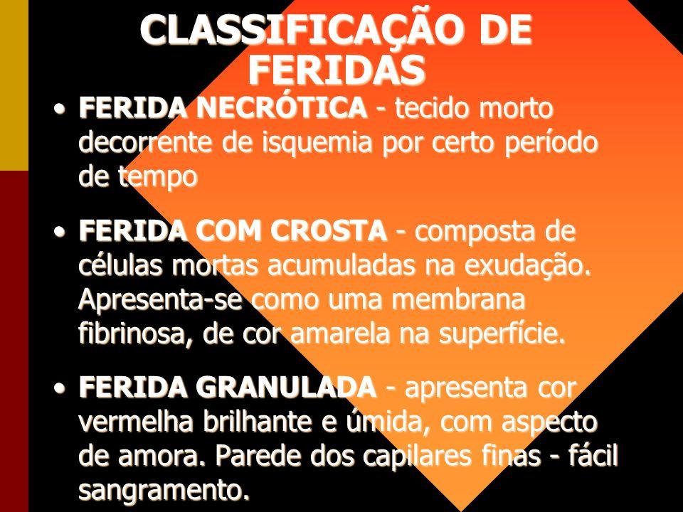 CLASSIFICAÇÃO DE FERIDAS