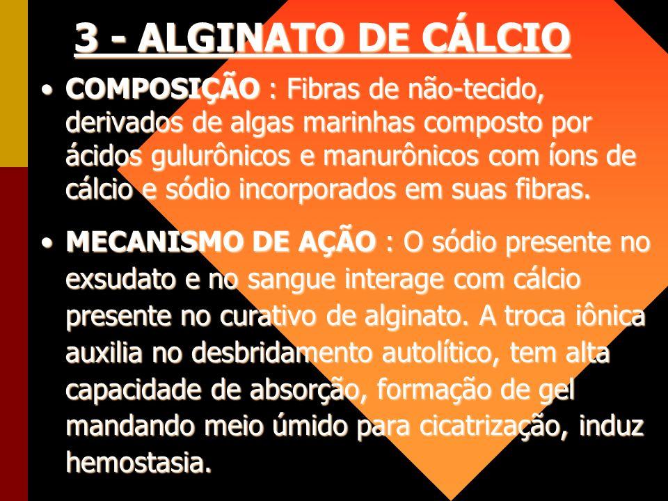 3 - ALGINATO DE CÁLCIO