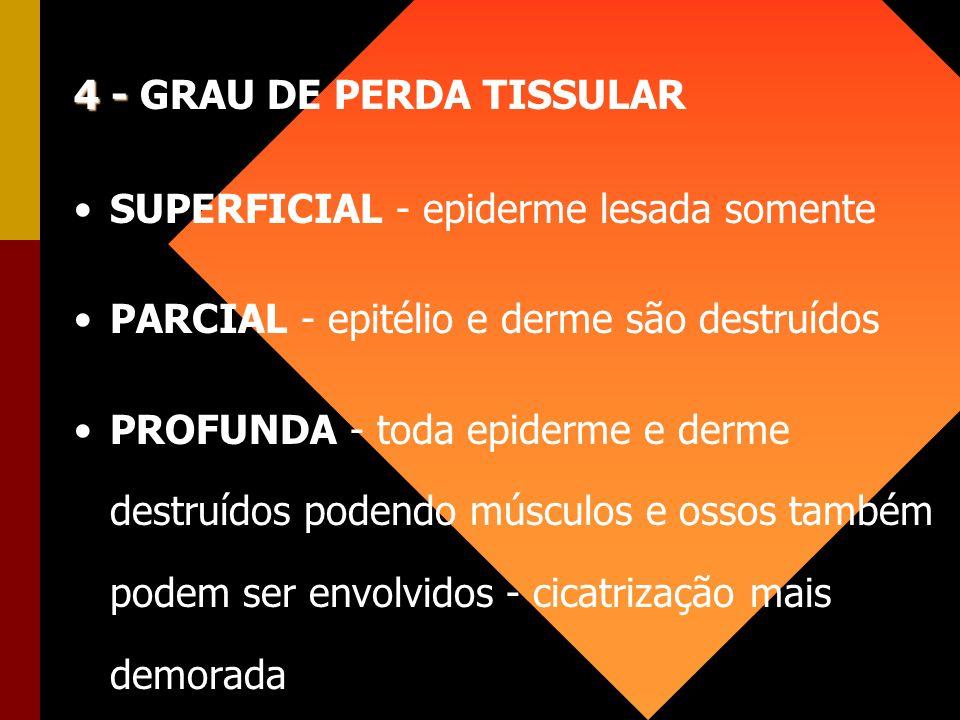 4 - GRAU DE PERDA TISSULAR